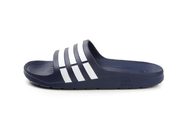 adidas Duramo Slide 拖鞋 戶外 防水 好穿 輕 深藍色 男女鞋 G15892 no441