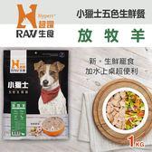 【毛麻吉寵物舖】HyperrRAW超躍 小獵士五色生鮮餐 放牧羊口味 1公斤(200克*5替代)