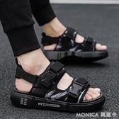 涼鞋夏季拖鞋男士涼鞋外穿沙灘鞋夏天室外韓版潮流休閑涼拖鞋 莫妮卡小屋