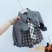 女童套裝兒童制服JK秋裝公主學院風襯衫百褶裙兩件套【淘嘟嘟】