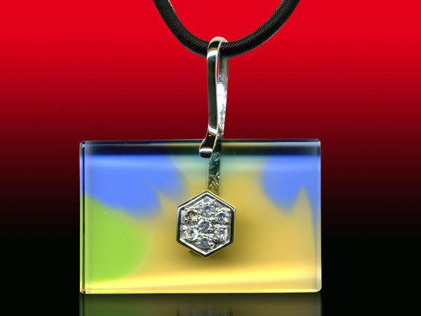 鹿港窯~開運古法水晶琉璃銀飾項鍊~幸運之星 附精美包裝◆免運費送到家