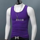 背心 男士寬肩背心夏季莫代爾修身新款韓版純色中青健身無袖男打底衫