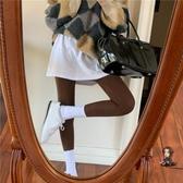 假兩件褲裙 假兩件打底褲女緊身高腰褲裙秋冬新款顯瘦長褲百搭撞色褲子 2色