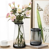 琉光玻璃花瓶 透明水培花瓶客廳復古文藝北歐風 創意干花插花花瓶