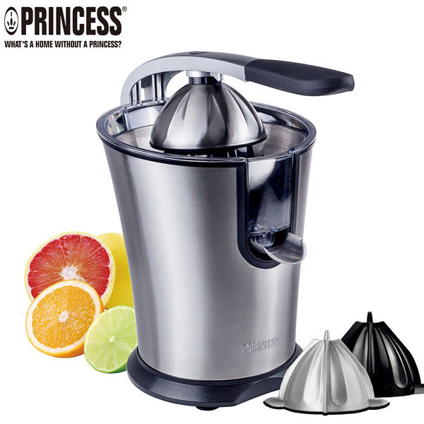 【歐風家電館】(送金屬榨汁頭)PRINCESS 荷蘭公主不鏽鋼 萬能 榨汁機 201851P / 201851