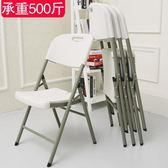 摺疊椅家用餐椅簡約椅休閒塑料椅會議培訓辦公電腦椅凳子靠背椅子限時八九折