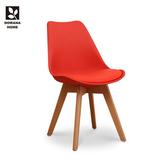 【多瓦娜】捷琳舒適DIY造型皮餐椅/四色紅色