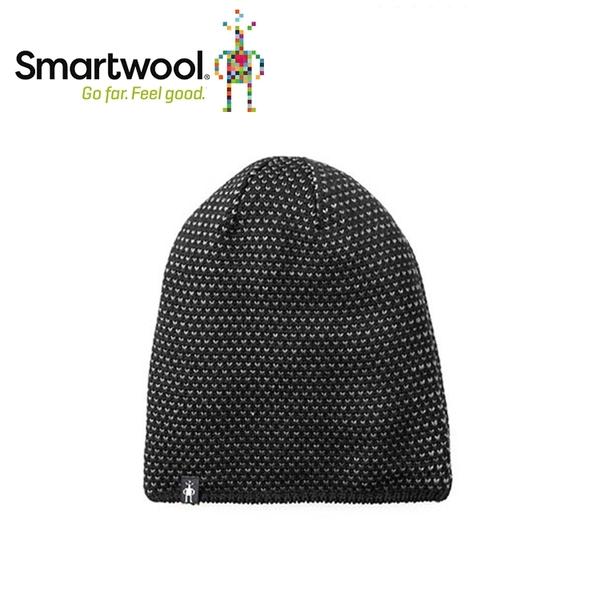 【美國 SmartWool 鑽紋毛呢帽 《黑》】SW010432/保暖針織帽/毛線帽/羊毛帽