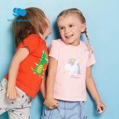 女童T恤麗嬰房童裝男女童夏季短袖卡通T恤柔軟舒適上衣新款 晴天時尚館