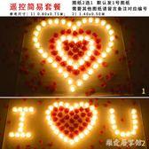 遙控LED電子蠟燭七夕情人節浪漫求婚表白道具生日布置    SQ9025『樂愛居家館』TW