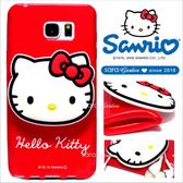 官方授權 三麗鷗 Sanrio Hello Kitty 立體 公仔 集線器 捲線器 三星 S7 S7Edge Note5 手機殼 軟殼【大頭紅】