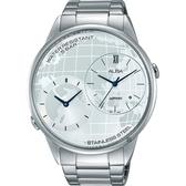 ALBA 雅柏 街頭酷玩家二地時間手錶-銀/45mm DM03-X002S(AZ9013X1)