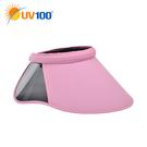 UV100 防曬 抗UV-側邊鏡面遮陽帽...