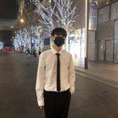 韓國新品質感黑色窄版領帶男 中性LES帥T西裝領帶休閒     西城故事