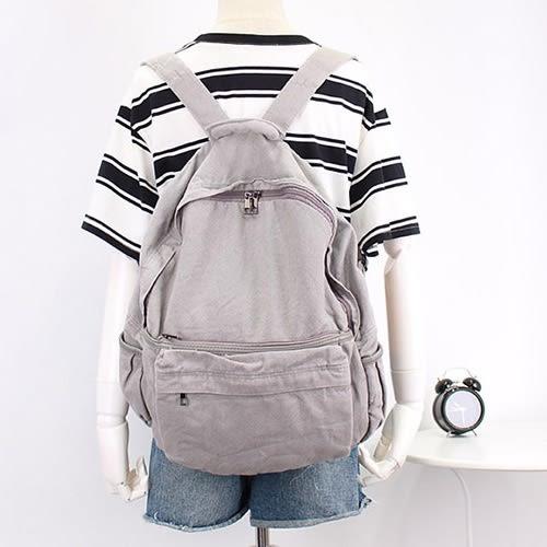 後背包 森林系 側邊袋 雙肩包 帆布包 學院風 休閒-手提包/後背包【AL086】 icoca  09/20