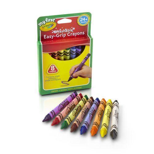 美國crayola幼兒可水洗三角蠟筆8色[衛立兒生活館]