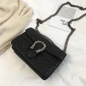 斜挎包斜挎包包女復古百搭質感新款韓版單肩時尚鏈條小方包