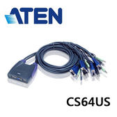ATEN CS64US 帶線式USB KVM多電腦切換器