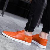 男士休閒皮鞋透氣男鞋子韓版學生潮流板鞋防水防滑工作鞋 『夢娜麗莎精品館』