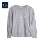 Gap女童甜美風格圓領套頭針織衫521672-麻灰色