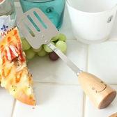◄ 生活家精品 ►【Q78】笑臉原木不鏽鋼漏鏟 ZAKKA 廚房 烘焙 料理 中式 西式 煎蛋 早餐