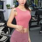 運動背心 運動文胸女聚攏定型收副乳跑步外穿健身內衣瑜珈背心帶胸墊bra夏