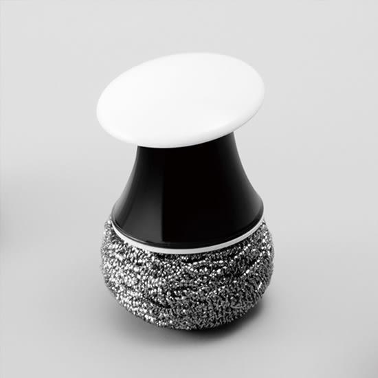 ♚MY COLOR♚森林菇菇短柄鍋刷 不銹鋼 絲球 鍋刷 清潔球 鋼絲 洗鍋刷子 廚房 鍋子【P366】