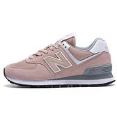 New Balance 574 女鞋 休閒 經典 麂皮 網布 粉【運動世界】WL574UNC