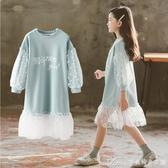 洋裝女童連身裙春裝新款春秋季衛衣裙兒童洋氣童裝小女孩長袖裙子 快速出貨
