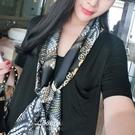 長條小絲巾女韓國百搭領巾細窄雙面圍巾裝飾領帶頭巾紗巾 黛尼時尚精品
