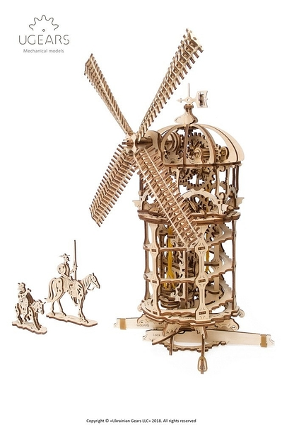 Ugears 唐吉軻德的風車 Tower Windmill 烏克蘭精品模型 環保木製