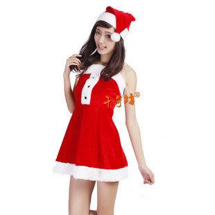 聖誕服裝 -高檔女裙3件套310g 07款