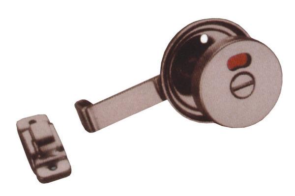 橫拉門指示鎖LAH-2A 安全型拉門指示鎖 不銹鋼指示鎖 板厚35mm浴廁門閂紅綠顏色表示開關安全鎖