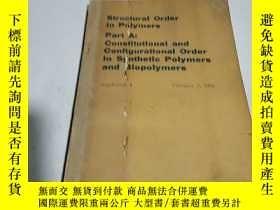 二手書博民逛書店Structural罕見order in polymers :聚
