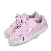 Puma Basket Heart Patent Wns 粉紅 白 漆皮 緞帶鞋 運動鞋 女鞋【PUMP306】 36307319