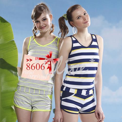 ☆小薇的店☆泳之美品牌【亮眼寬條紋】時尚二件式泳裝特價1090元 NO.8606(M-XL)