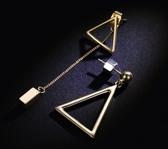 日韓國氣質幾何耳環長款吊墜耳墜女個性簡約百搭不對稱耳釘耳飾品