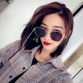 現貨-黑色復古墨鏡防紫外線復古鏡網紅同款墨鏡街拍男女原宿風太陽眼鏡320