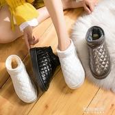 雪地靴-雪地靴女新款時尚一腳蹬棉鞋冬季平底加絨學生防水滑短筒靴子 東川崎町
