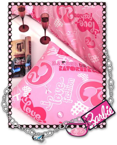 【Barbie】變妝時尚-緹花加大雙人床包被套四件組《Closet》