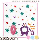 【衣襪酷】純棉 紗布方巾 親子熊款 手巾 手帕 台灣製 雙鶴 SHUANG HO