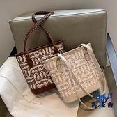包包女手提水桶包時尚單肩大容量托特包【古怪舍】
