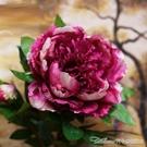 仿真大牡丹花玫瑰花束婚慶家居客廳落地裝飾幹花假花絹花插花擺件 阿卡娜
