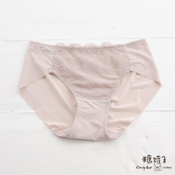 【五折價$149】糖罐子蕾絲拼接造型純色內褲→預購(M-XL)【DD2272】