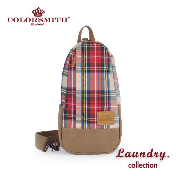 【COLORSMITH】LD・ 單肩後背包-紅格紋・LD1326-RH