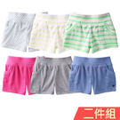 Augelute 女童 夏日羅紋熱褲2件...