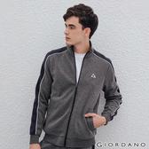 【GIORDANO】男裝G-MOTION品牌LOGO運動外套 - 69 雪花深灰