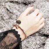 正韓圓珠手 女玫瑰金不掉色時尚氣質簡約手鐲手環【快速出貨】