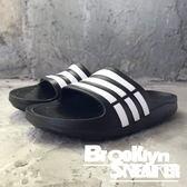 ADIDAS Duramo K  經典黑白 童 防水 海灘 拖鞋 (布魯克林) 2018/7月 G06799K