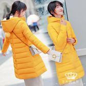鋪棉外套 氣質加厚長韓版修身女中長款外套